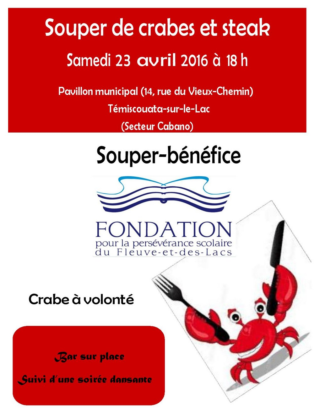 Souper Crabe et Steak 2016